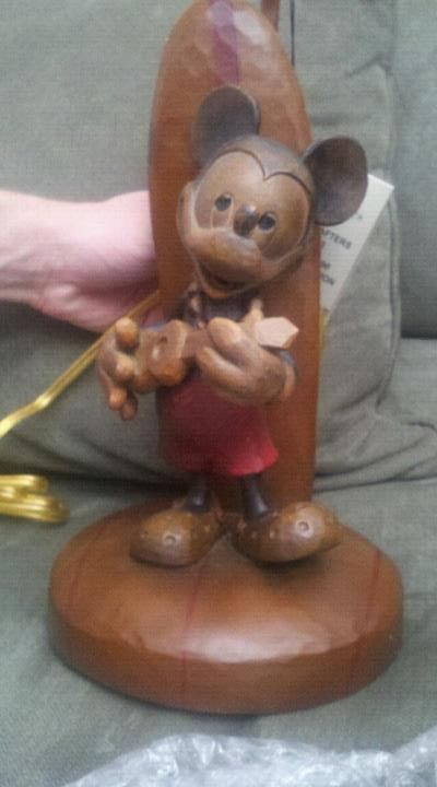 Aulani Mickey Mouse Surf Board Lamp Faith Trust And