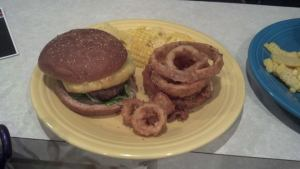 Corn on the Cob, Pineapple Teriyaki Burgers, and Homemade Onion Rings