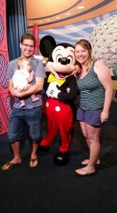 meeting Mickey Mouse for the first time!
